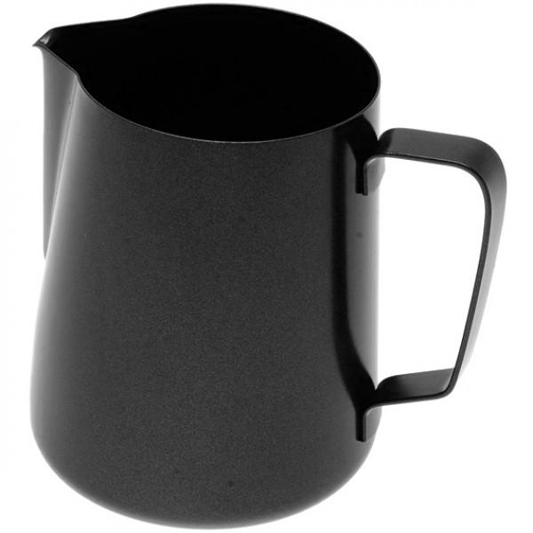 Konvička na mléko PTFE+Stainless Steel Aisi 202 - černý teflonový povrch 100ml