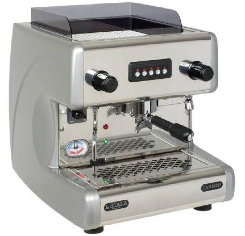 Profesionální kávovar La Scala New Carmen 1gr Volumetric EVD Silver Metallic