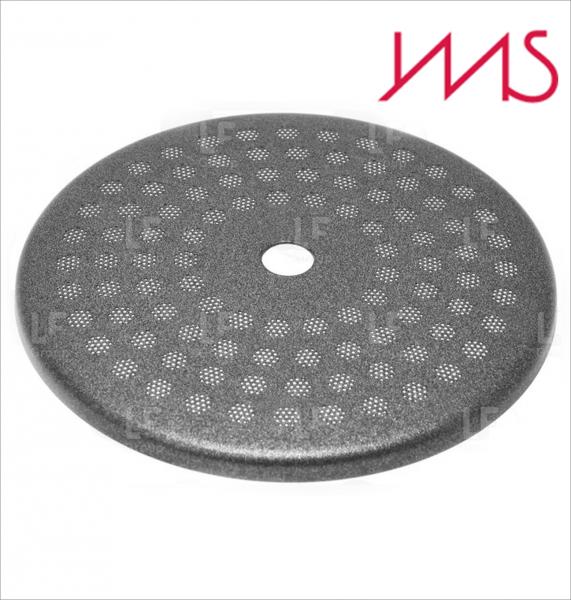 IMS RA 200 TC (PTFE Teflon Coated) precizní sítko sprchy hlavy kávovaru ø 57 mm se středovým otvorem 5,5mm, 98 otvorů ø 3mm, Aisi 316 Stainless Steel, Food Safe Certified, integrovaná membrána 200 µM