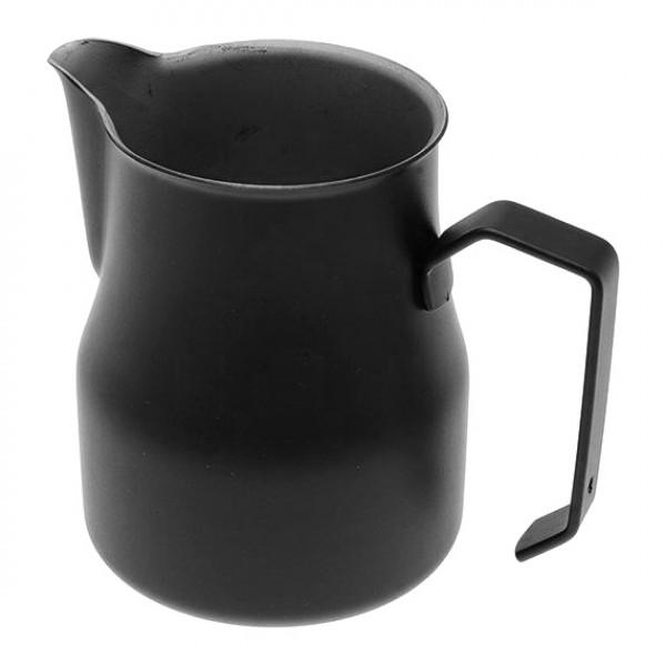 Konvička na mléko MOTTA EUROPA PTFE+Stainless Steel s hubičkou - černý teflonový povrch 350ml