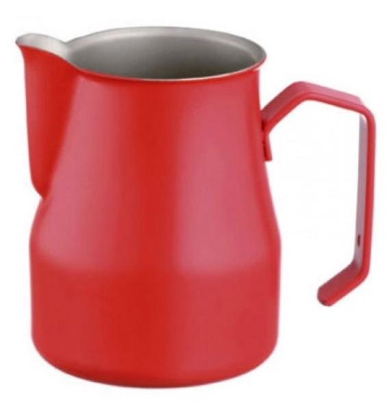 Konvička na mléko MOTTA EUROPA PTFE+Stainless Steel s hubičkou - červený teflonový povrch 350ml