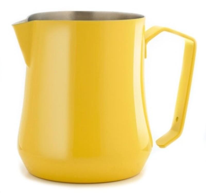 Konvička na mléko MOTTA TULIP Satin Stainless Steel Inside s hubičkou - žlutý lakovaný povrch 500ml