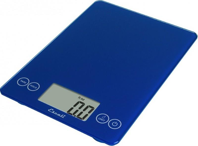 Digitální horizontální váha ESCALI v provedení ELECTRIC BLUE s váživostí 0g - 7000g/15LB/248OZ a přesností vážení 1g