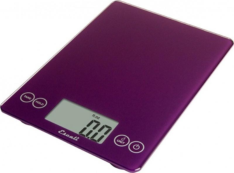 Digitální horizontální váha ESCALI v provedení PURPLE s váživostí 0g - 7000g/15LB/248OZ a přesností vážení 1g