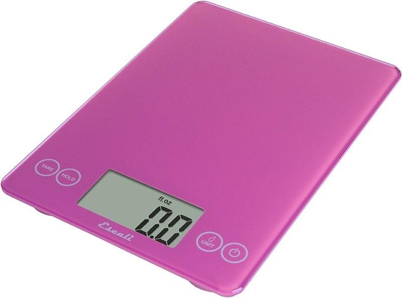 Digitální horizontální váha ESCALI v provedení PINK s váživostí 0g - 7000g/15LB/248OZ a přesností vážení 1g