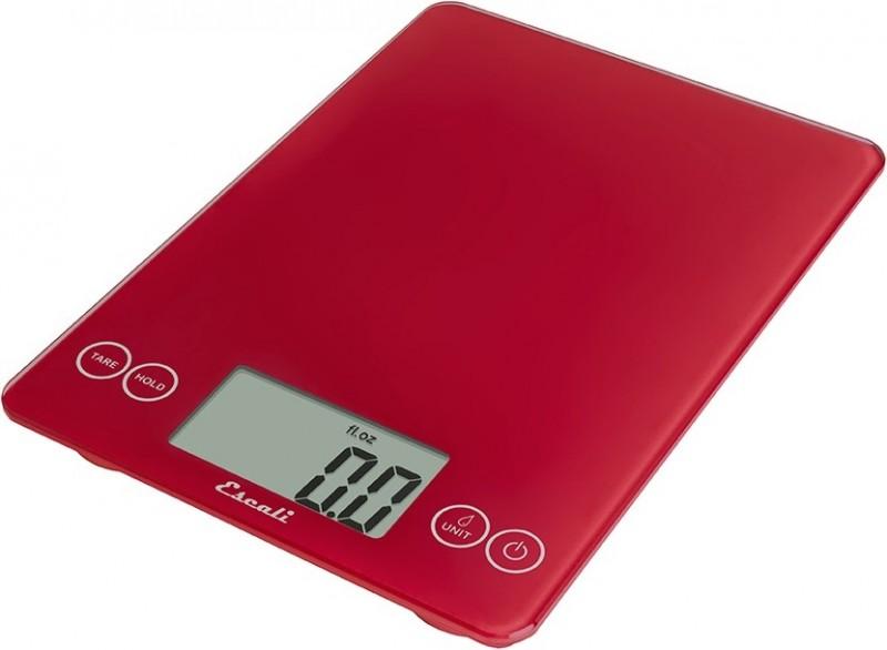 Digitální horizontální váha ESCALI v provedení RED s váživostí 0g - 7000g/15LB/248OZ a přesností vážení 1g