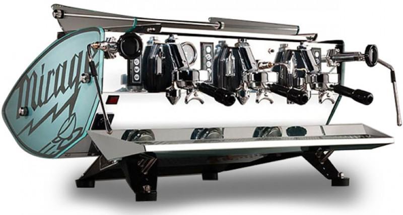 Profesionální kávovar Kees van der Westen Triplette 3gr EVD Glass, Wood and INOX - nejvyšší verze modelu