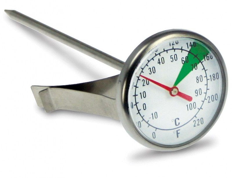 Teploměr analogový ke kontrolnímu měření teploty ø 45 mm, délka 125 mm, teplotní rozsah 0-100°C/0-220°F (shodný výrobek Metalurgica MOTTA)