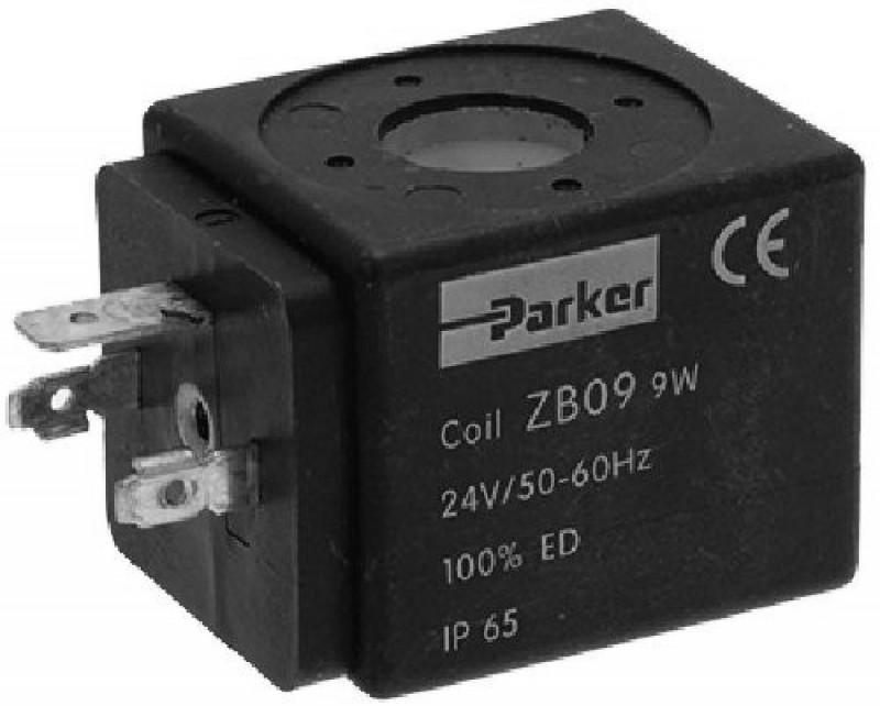 PARKER - cívka ventilu PARKER/LUCIFER 24V, 9W, 50/60Hz, ochrana IP65
