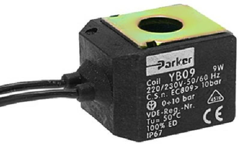 PARKER - cívka ventilu PARKER/LUCIFER ZB09 220/230V, 9W, 50/60Hz ochrana IP67