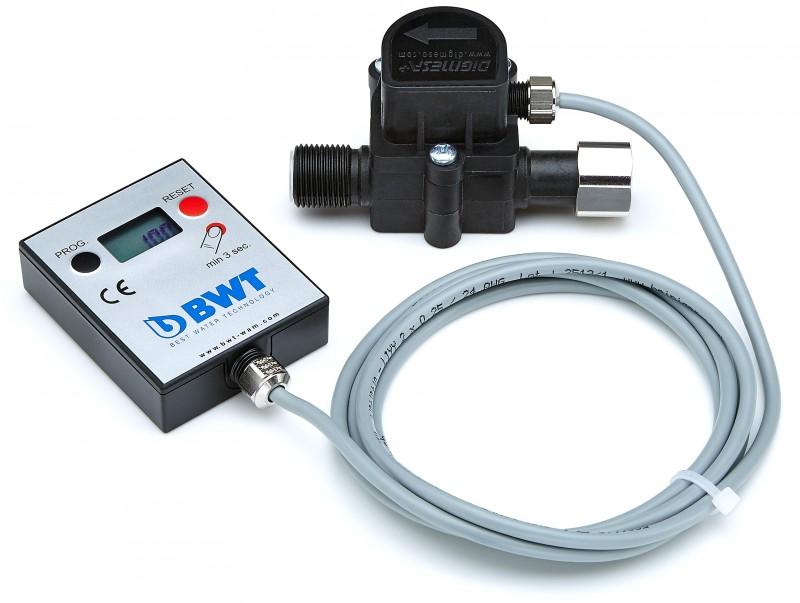 """BWT water+more digitální průtokoměr s LCD displayem a připojením 3/8"""""""