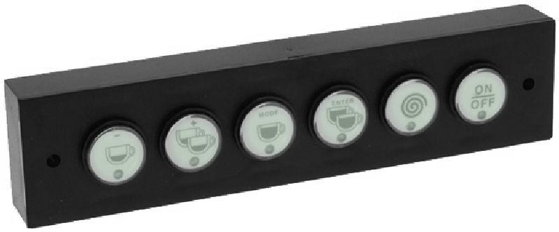 Panel ovládacích tlačítek kávovaru La Marzocco FB80-GB5, membránové, 6 tlačítek - kompletní sestava s variantou tlačítka ON/OFF