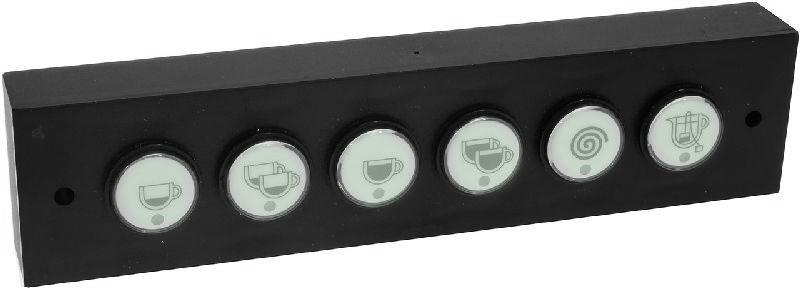 Panel ovládacích tlačítek kávovaru La Marzocco FB80-GB5, membránové, 6 tlačítek - kompletní sestava s variantou tlačítka programování
