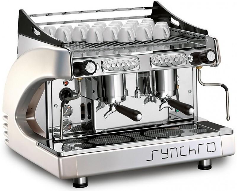 Profesionální kávovar CBC Royal First Synchro Compact White Pearl EVD 2gr Volumetric Display - 6 měsíců použitý