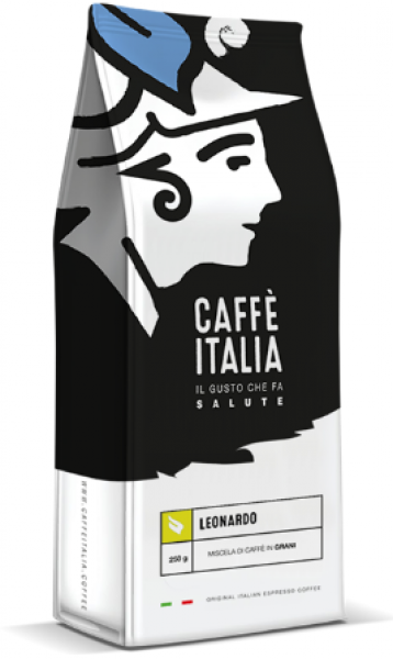 Caffè Italia Leonardo Blend - originální Italská espresso směs - čerstvě pražená a pravidelně doplňovaná na sklad