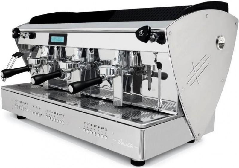 Profesionální kávovar Orchestrale Etnica 3gr EVD Display Tall Cup Led Lights Glass and INOX - nejvyšší verze se zvýšenými hlavami a kontrolním displayem
