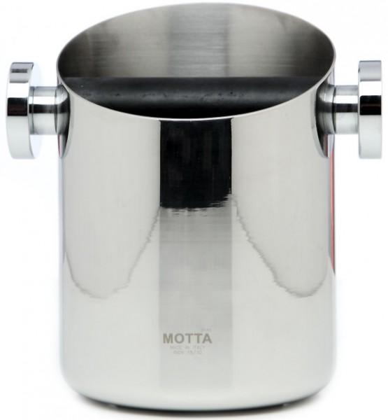 Odklepávací nádoba na kávu MOTTA KNOCKBOX Stainless Steel, materiál nerez, Made in Italy, rozměr ø 110mm výška 150mm