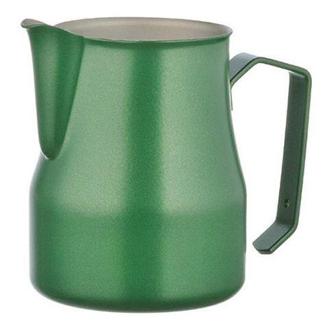 Konvička na mléko MOTTA EUROPA PTFE+Stainless Steel s hubičkou - zelený teflonový povrch 500ml