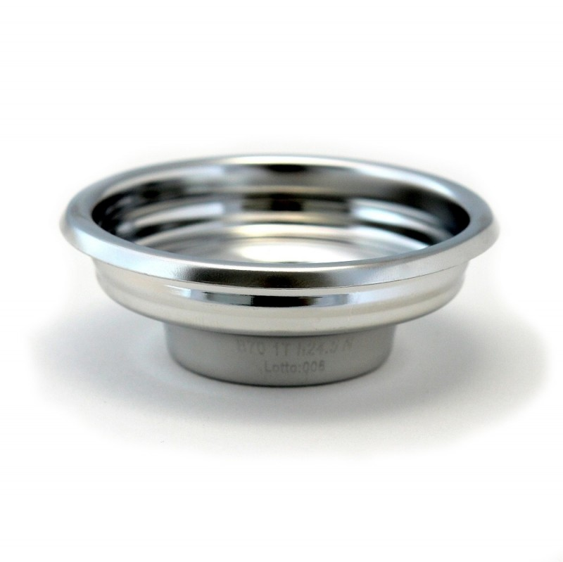 IMS B70 1T H26.5 E precizní filtrační miska jednoporcová, velikost dávky 6-9g, H26.5, Aisi 304 Stainless Steel, Food Safe Certified, odpovídající tamperu ø 58 mm