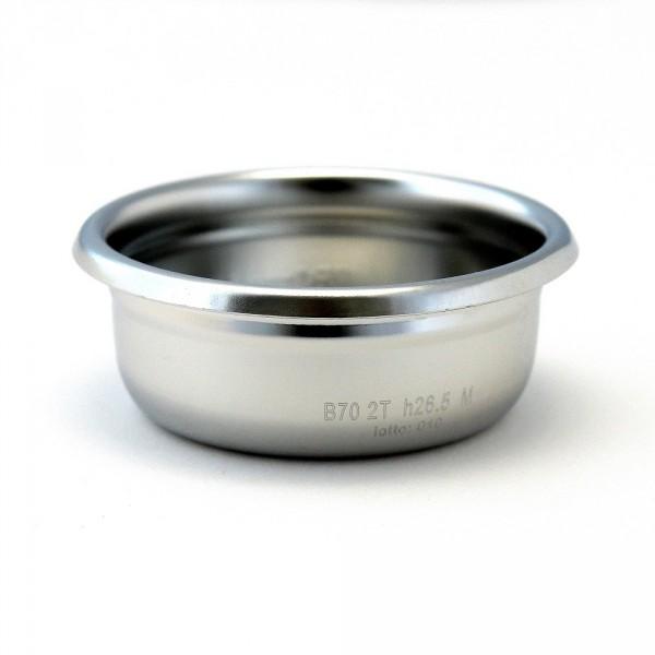 IMS B70 2T H26.5 M precizní filtrační miska dvouporcová, velikost dávky 14-20g, H26.5, Aisi 304 Stainless Steel, Food Safe Certified, odpovídající tamperu ø 58 mm
