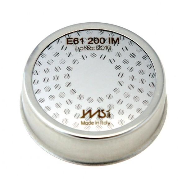 IMS E61 200 IM precizní sítko sprchy hlavy kávovaru ø 60 mm, 98 otvorů ø 3mm, Aisi 304 Stainless Steel, Food Safe Certified, integrovaná membrána 200 µM - určeno pro skupiny hlav kávovarů typu E61