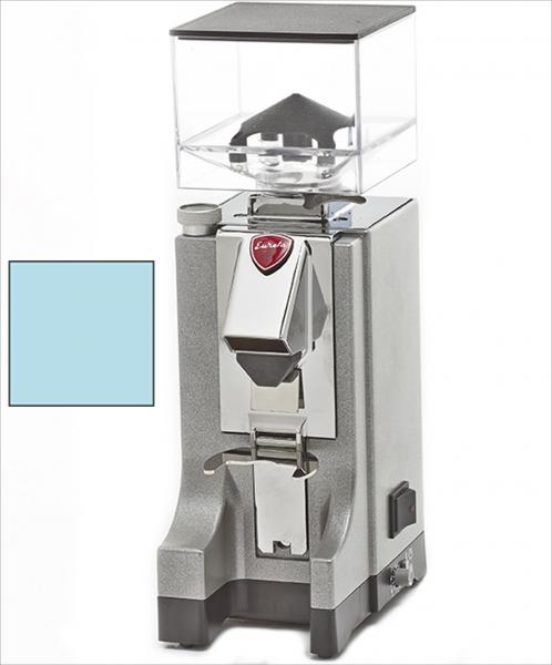 EUREKA Mignon Instantaneo - profesionální přímý mlýnek na kávu - barva Modrá Celeste, verze manuál bez časovače