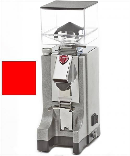 EUREKA Mignon Instantaneo - profesionální přímý mlýnek na kávu - barva Červená Rosso, verze manuál bez časovače