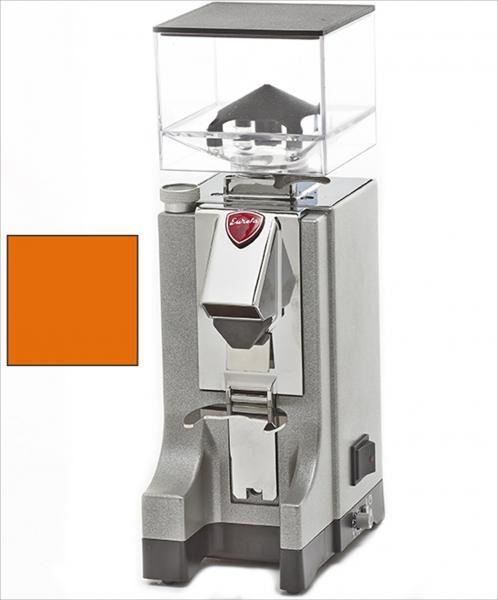 EUREKA Mignon Instantaneo - profesionální přímý mlýnek na kávu - barva Oranžová Arancione, verze manuál bez časovače