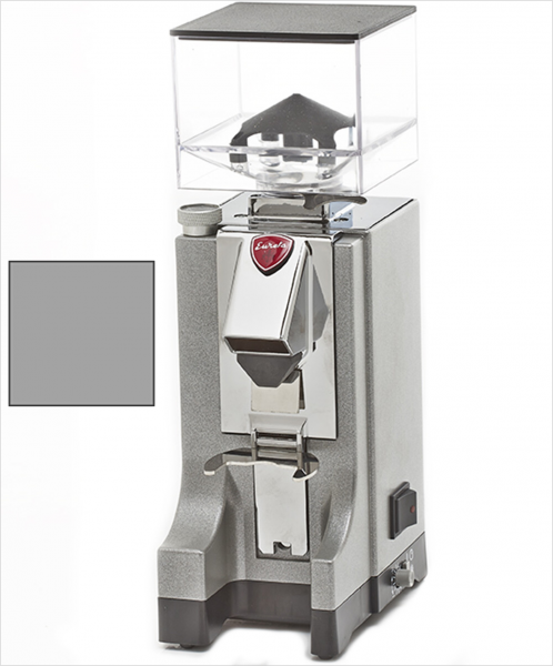 EUREKA Mignon Instantaneo - profesionální přímý mlýnek na kávu - barva Šedá Grigio, verze manuál bez časovače
