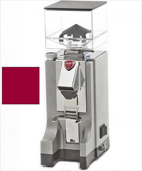EUREKA Mignon Instantaneo - profesionální přímý mlýnek na kávu - barva Vínová Amaranto, verze manuál bez časovače