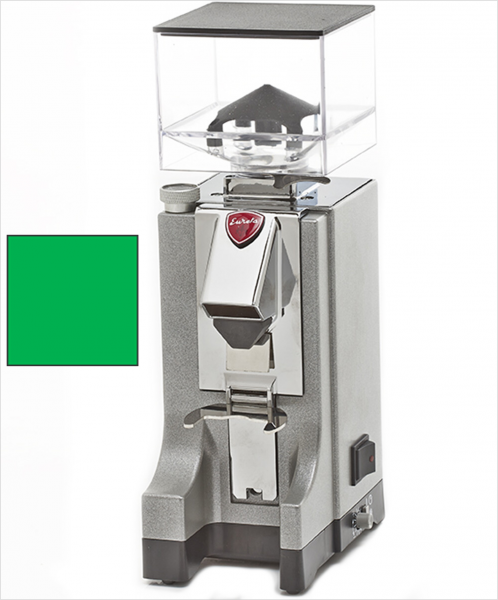 EUREKA Mignon Instantaneo - profesionální přímý mlýnek na kávu - barva Zelená Verde, verze manuál bez časovače