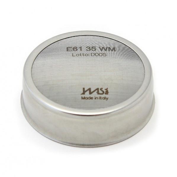 IMS E61 35 WM precizní sítko sprchy hlavy kávovaru ø 60 mm, 120 otvorů ø 2,5mm, Aisi 304 Stainless Steel, Food Safe Certified, integrovaná membrána 35 µM - určeno pro skupiny hlav kávovarů typu E61