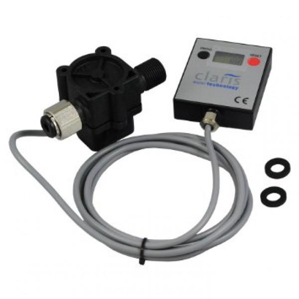 """Claris Professional Filter Flowmeter - průtokoměr filtrace s digitálním displayem a připojením ø 3/8""""-3/8"""""""