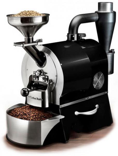 Plně automatický profesionální stroj pro pražení kávy značky Sweet Coffee Italia model GEMMA s kontrolním panelem a mikroprocesorovým řízením - barva černá