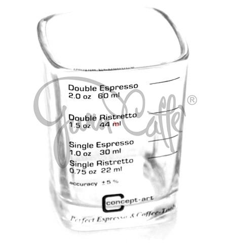Odměrka na kávu Concept Art JOE FREX 22/60 ml (0.75/2.0 oz) - skleněná s potiskem