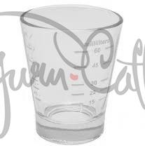 Odměrka na kávu LF Group 15/60 ml (0.5/2.0 oz) - skleněná s potiskem