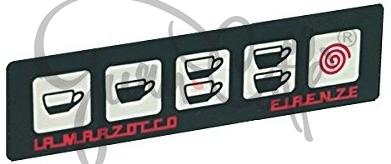 Panel ovládacích tlačítek kávovaru La Marzocco FB70-Linea, membránové, 5 tlačítek - membránový panel