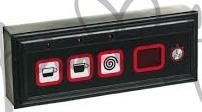 Panel ovládacích tlačítek kávovaru La Marzocco FB70-Linea, membránové, 3 tlačítka - kompletní sestava s digitálními stopkami