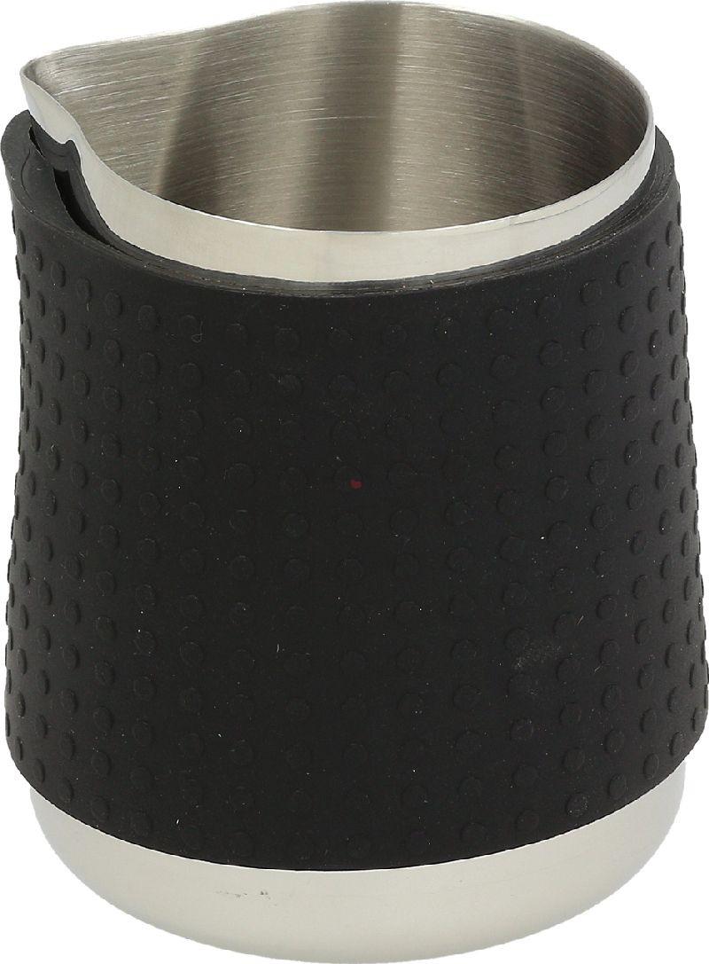 Konvička na mléko Rattleware Handle Free Stainless Steel s hubičkou - leštěný nerezový povrch s ochranným gumovým gripem o obsahu 600ml