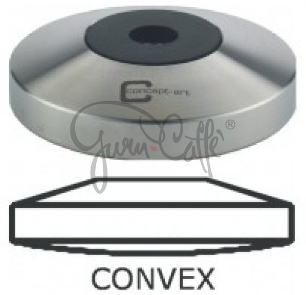 Základna Tamperu Concept Art s konvexním dnem závit M8 Convex Stainless Steel ø 53 mm