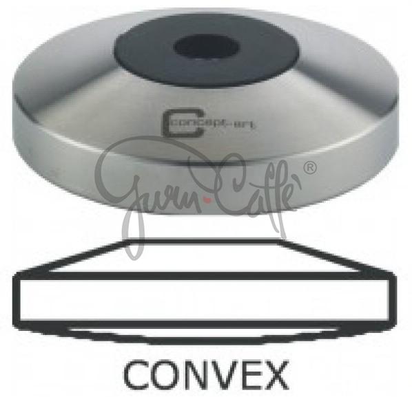 Základna Tamperu Concept Art s konvexním dnem závit M8 Convex Stainless Steel ø 57 mm