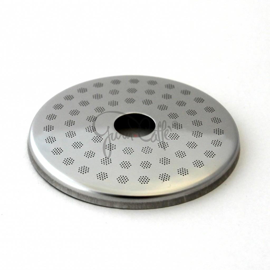 IMS SP 200 IM + SPD 200 IM precizní set sítek sprchy hlavy kávovaru ø 48.4 mm se středovým otvorem 5mm, 63 otvorů ø 3mm, Aisi 304 Stainless Steel, Food Safe Certified, integrovaná membrána 200 µM