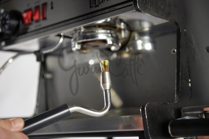 Kartáček k čištění hlav a součástí kávovaru Concept Art Cleaning Steam Brush parní s výměnnými nástavci a silikonovými redukcemi na připojení k vývodu páry