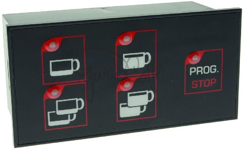 Panel ovládacích tlačítek kávovaru WEGA Atlas-Pegaso, membránové, 5 tlačítek