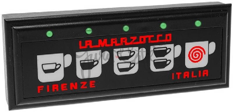 Panel ovládacích tlačítek kávovaru La Marzocco FB70-Linea, membránové, 5 tlačítek - kompletní sestava