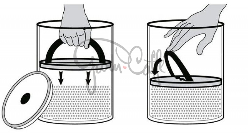 Vakuová dóza k uchování potravin s pístem Planetary Design AirScape® Glass 850 ml