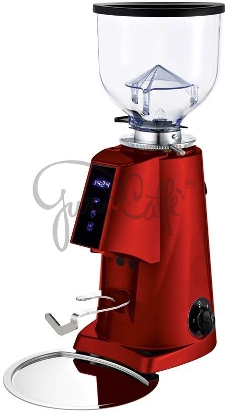 Profesionální přímý mlýnek na kávu Fiorenzato F4 E nano - barva červený lak lesklý