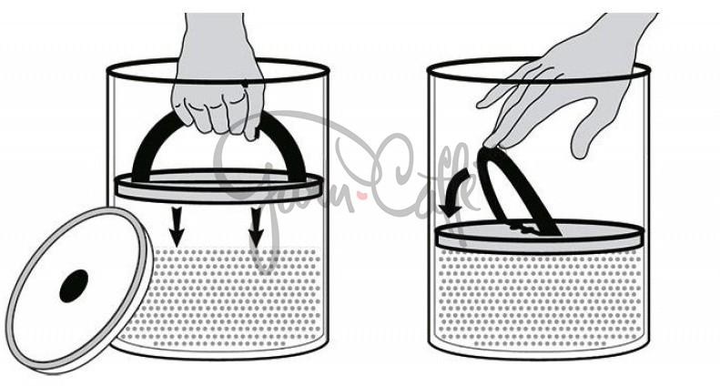 Vakuová dóza k uchování potravin s pístem Planetary Design AirScape® Glass 5000 ml
