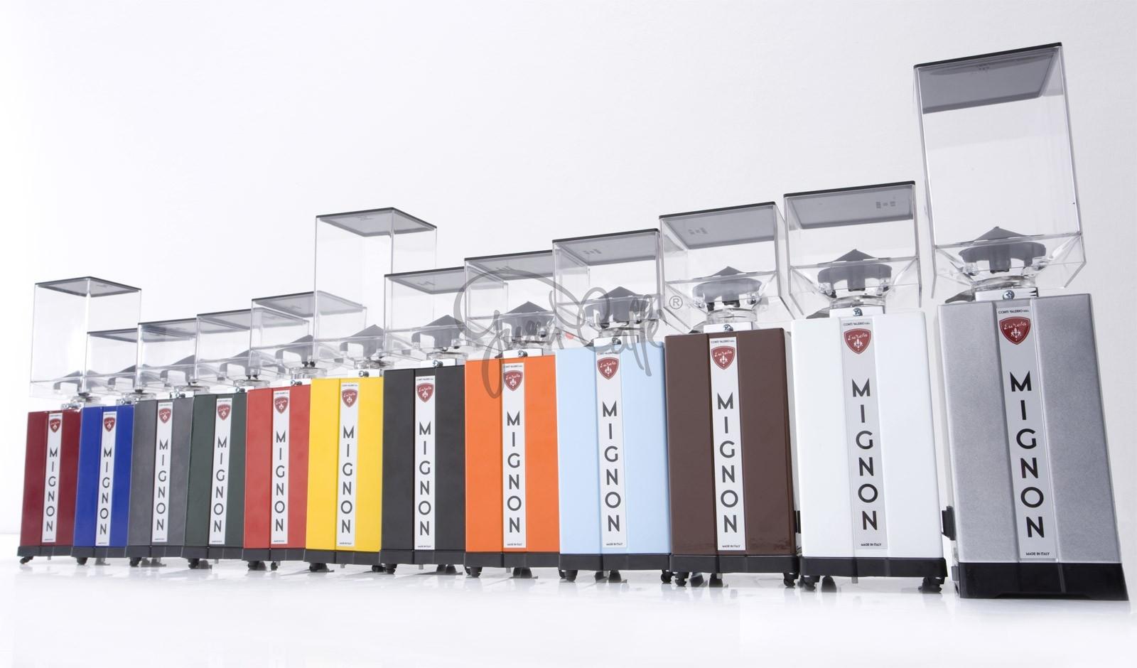 EUREKA Mignon Instantaneo - profesionální přímý mlýnek na kávu - barva Bílá Bianco, verze manuál bez časovače