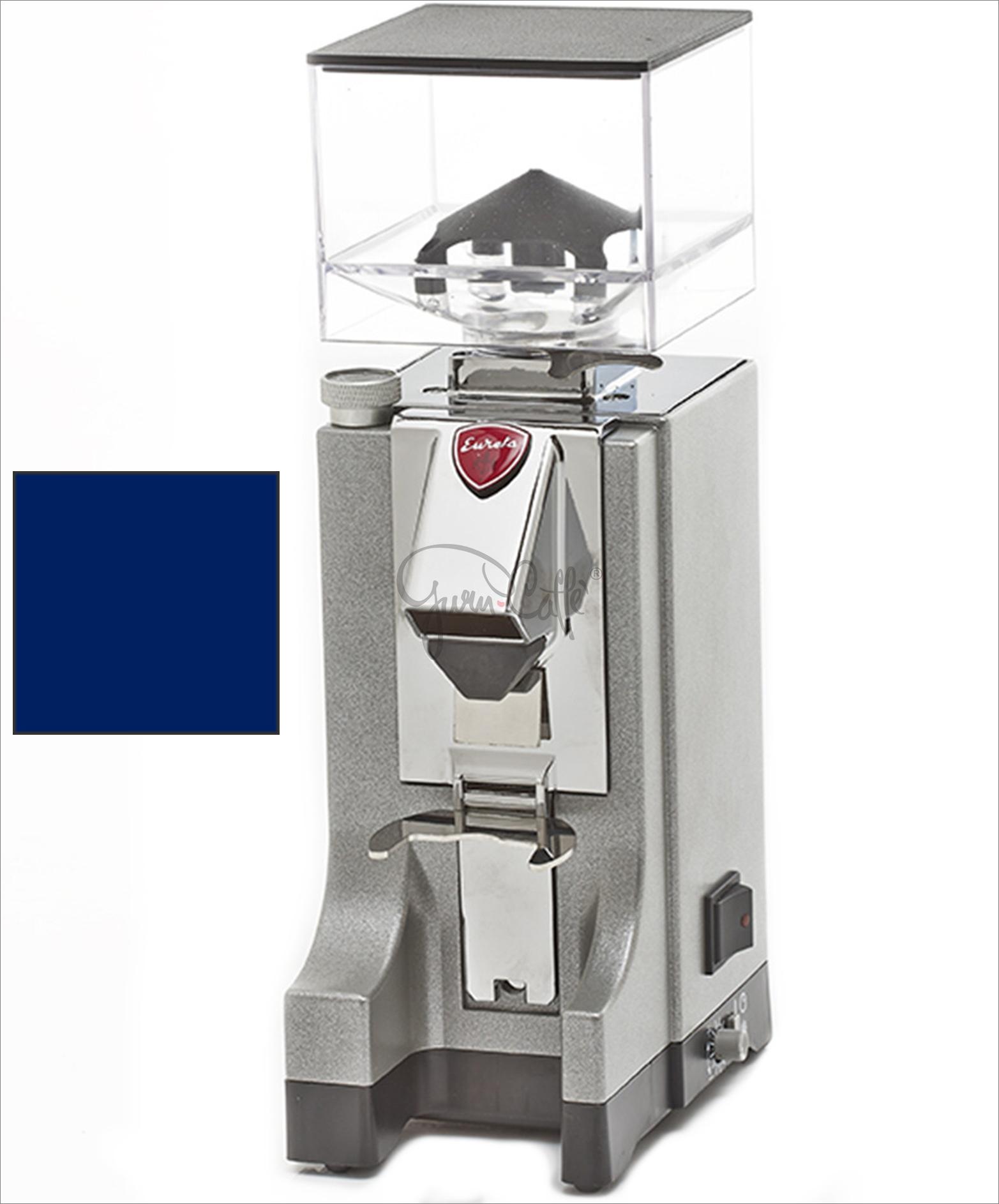 EUREKA Mignon Instantaneo - profesionální přímý mlýnek na kávu - barva Modrá Blu, verze manuál bez časovače
